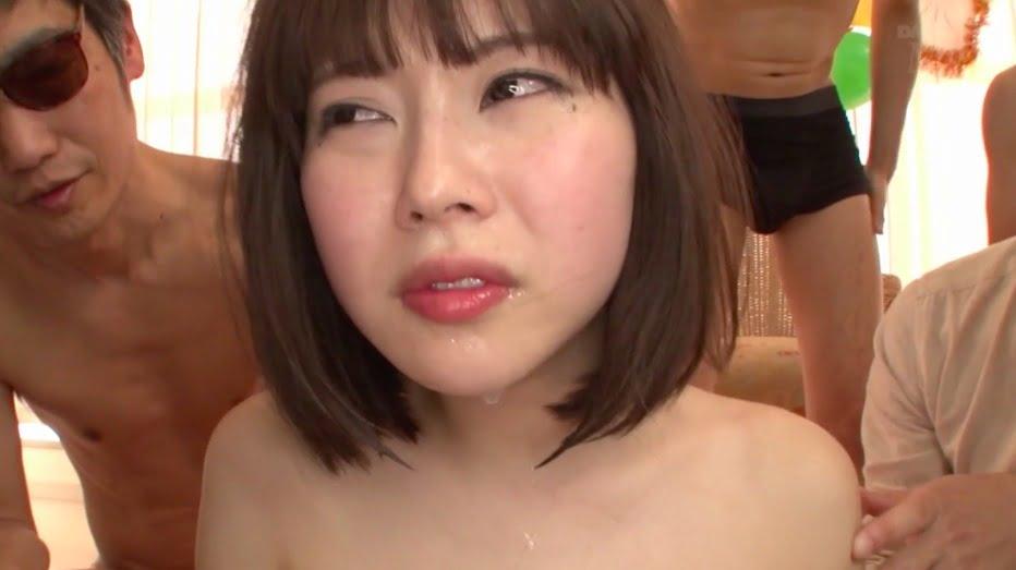 【彩城ゆりな】ファン感謝祭でファンが暴走、ザーメン飲みまくり、ケツ穴掘られまくり!